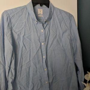 Gap Womens Boyfriend Fit Cotton Button Up